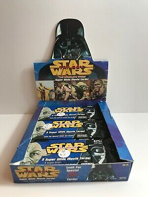 Star Wars Trilogy Super Wide Movie Cards Topps 1997 21 Sealed Packs Plus Box 90s