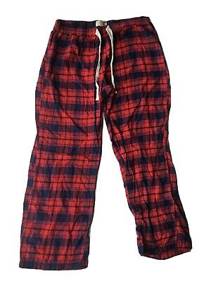 Love By Gap Pajama Bottoms Red Plaid Comfortable Cozy Cute Size Small
