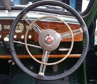 Classic Leather Steering Wheel Cover / Glove - Wolseley 4/50 6/80 Morris 6 Mo Mm
