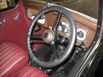 LEATHER STEERING WHEEL COVER / GLOVE for AUSTIN 7 RUBY CHUMMY NIPPY BOX etc