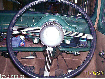 CLASSIC LEATHER STEERING WHEEL COVERS  (GLOVES) - FORD CONSUL ZEPHYR ZODIAC Mk1
