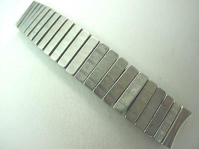 "Prospect Mens Vintage Watch Band 16mm 5/8"" Stainless Steel Overhand Expansion"