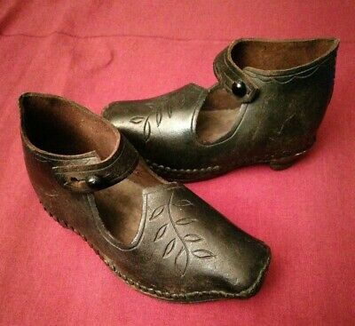 Pair Of Antique Hob Nail Children's Shoes