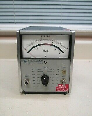 Vintage HP Hewlett Packard H60 3400A .3-300V RMS Voltmeter Used Free Shipping