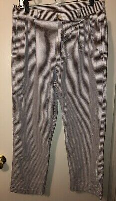 Mens Jos. A Bank Classic Collection Blue And White 34x29 Dress Pants