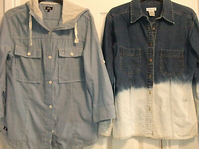 Denim Blouse / Shirts X 2. Voi,  Talbots. Size 10.14. Joblot