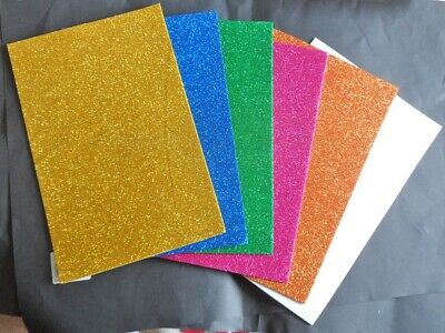 glitter foam sheets A4. Pack of six. New. All different colours.