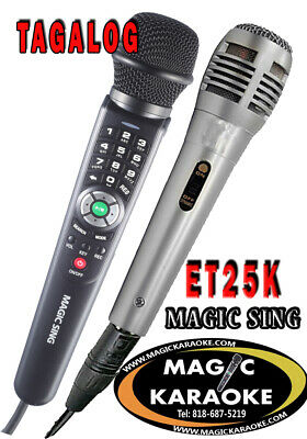 Magic Sing ET25K 2300 Tagalog English songs karaoke wired Mic + 1 MIC TOTAL 2