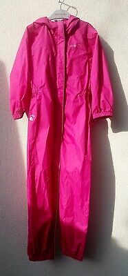 Girls Clothes Age 5-6 Yrs, Gelert Pink Waterproof Shower Suit Hood Zip, Camping
