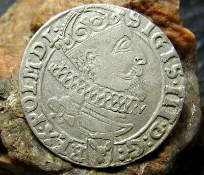 Ancient Medieval Silver Coin 1626 year.Sigismund III Silver Coin