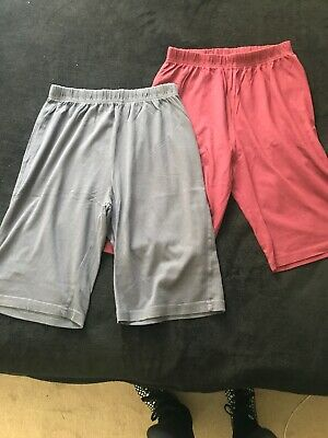 Two Pairs Of Boys Cotton Shorts Age 12