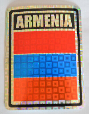 ARMENIA  LONG COUNTRY FLAG  METALLIC BUMPER STICKER DECAL ..11.75 X 3 INCH