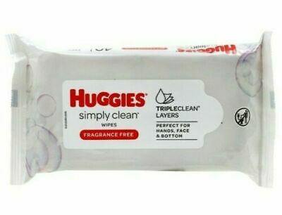 Huggies Simply Clean Wipes - Fragrance Free - 40 Count Each