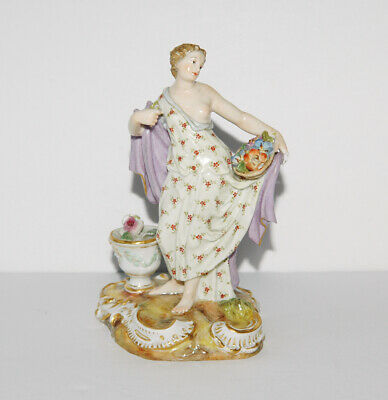 Antique Estate MEISSEN Germany Hand Painted Small Porcelain Figurine 5""