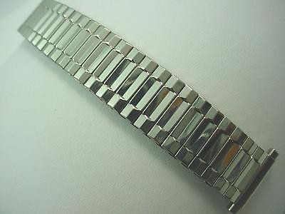 """Stainless Steel Mens Vintage Watch Band Straight Expansion 16mm-19mm 5/8""""-3/4"""""""