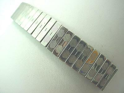 Focal Mens Vintage Watch Band Overhand Expansion Stainless Steel 16mm 5/8""