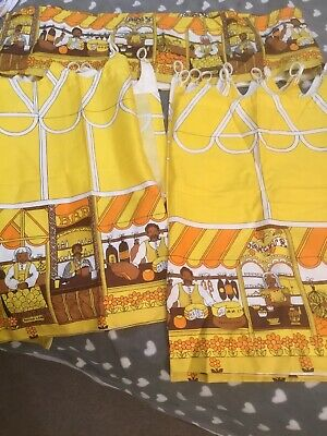 PARMA  CAFE  Curtains    RETRO VINTAGE FABRIC