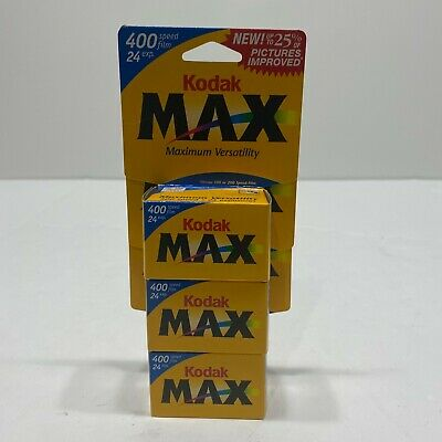 Lot of 3 Kodak Max Versatility 400 Film 24 Exposures 35mm Color Sealed Rolls New