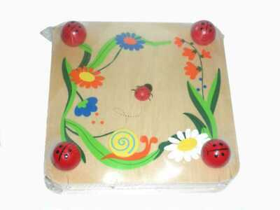 Wooden Flower and Leaf Press with Ladybirds