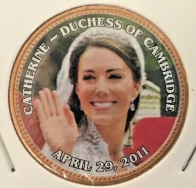 1967 BRITAIN UK CATHERINE DUCHESS OF CAMBRIDGE APR 29,2011-Penny COLORIZED Coin