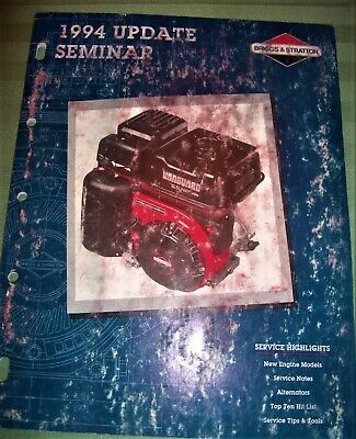 Briggs & Stratton 1994 Update Manual on New Engine Models