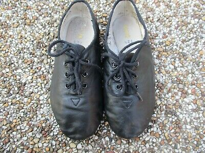Bloch black jazz leather kids children shoes size 12.5 lace used