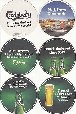 Carlsberg - Probably the best beer in the World - Set of 5 Coasters - Beer Mats