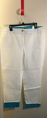 Women's Sz 16 Island Republic Crop Jean Pants Cotton&Spandex Cuffed at Hem NWT