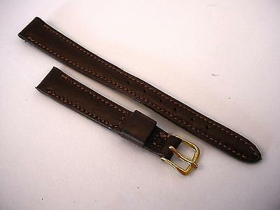 "Womans Norwgn Calf Padded Vintage Mormac Watch Band 7/16"" Goldtone Buckle"