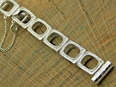 NOS Vintage JB Champion Rhodium Plated Watch Band 14mm Unused Ladies Bracelet