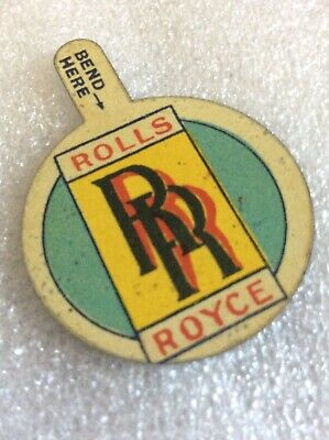 Stunning Vintage Rolls Royce Tin Advertising Badge 30s? Griffiths Confectionary