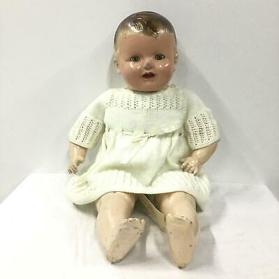 Vintage Reliable Baby Doll Canadian Plastic Head And Limbs Soft Body #601