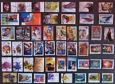 Australia 2000 - 2019 Stamps 50 Different Used All Unhinged