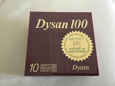 New Dysan100 10 Diskettes MF2 HD Quantity 1 pack Sealed(New, Never been opened)