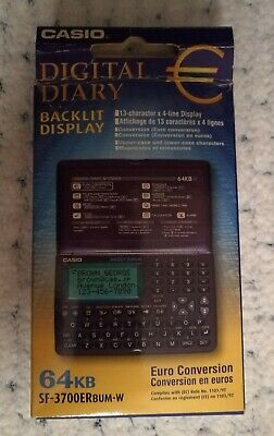 CASIO SF-3700ER BUM-W DIGITAL DIARY nuovo