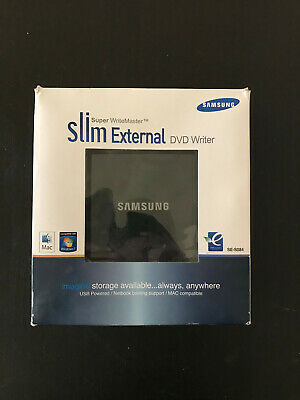 Samsung Super WriteMaster Slim External DVD Writer SE-S084 Windows Mac