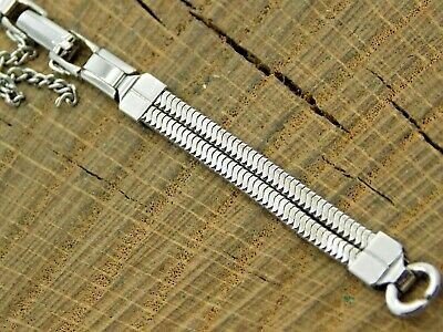 Vintage Watch Band Stainless Steel Ladies Ring End Butterfly Clasp NOS Unused