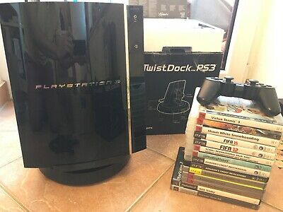 Playstation PS 3 60GB FAT CECH-C04 Abwärtskompatibel 14Spiele Dockingstation PS2