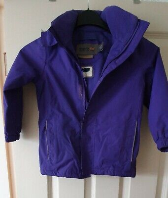 **Regatta purple Waterproof Jacket Coat age 5-6**