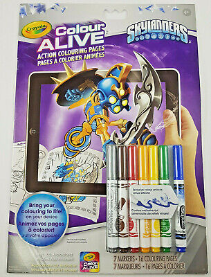 Skylanders Colour Alive Crayola Colouring Book Color Coloring Markers Kids Fun