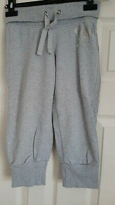 3/4 Length Cropped Grey Marl Joggers Age 10 Years Girl