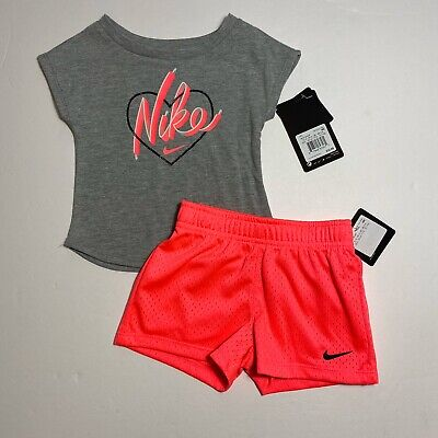 Nike Infant Girls Shorts & Tee Shirt Set Outfit 18M NEW #6