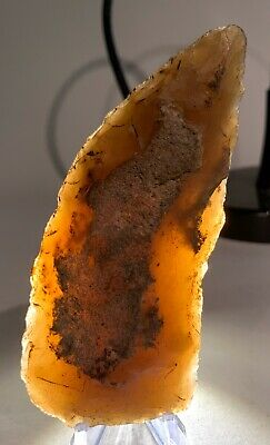 Translucent Paleolithic Grand Pressigny Flint Blade, France.