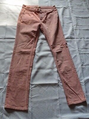 Womens Land's End Canvas 1963 Corduroy Pants~ Pink ~ Pin Straight~Mid Rise~Sz 28