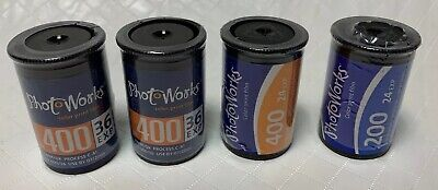 35mm Color Print Film PhotoWorks 400 200 36 24 Exp Lot of 4 Sealed Expired