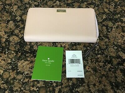 Kate Spade Neda Laurel Way Au Naturel Zip Around Wallet New W/Tags