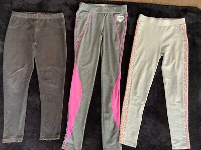 Girls Leggings Athletic Sportswear Bundle Age 11-12 Years 3 Items