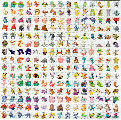 151 Original Pokemon BLOTTER ART perforated sheet paper psychedelic art