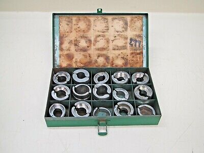 "(15) Burndy ""U"" Style Stainless Steel Crimping Compression Dies w/ Case Used"