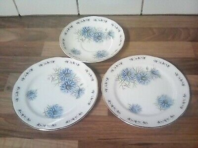 VINTAGE ROYAL ADDERLEY RIDGWAY POTTERIES saucer and 2 X side plates